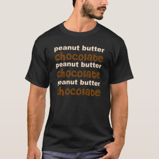 Choklad för jordnötsmör n tee shirts