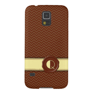 Choklad shoppar monogramen - Mintsparre - Q Galaxy S5 Fodral