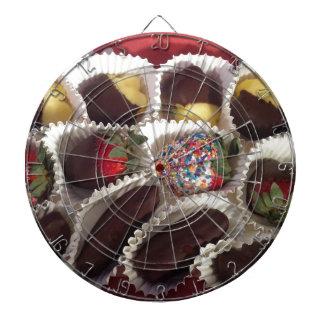 Choklad täckt frukt piltavla