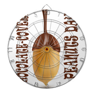 Choklad-Täckt jordnötdag - gillandedag Darttavla