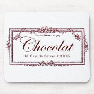 Chokladälskare…., älska denna vintagefranskkonst mus matta