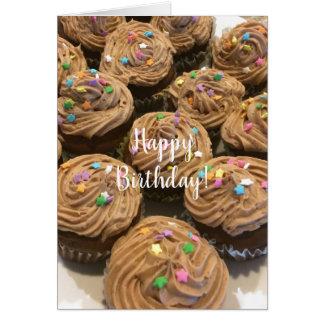 Chokladfödelsedagmuffins Hälsningskort