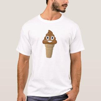 Chokladglass eller poop? Emoji roligt! Tshirts