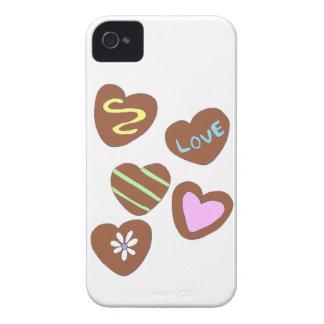 Chokladhjärtor iPhone 4 Case-Mate Cases