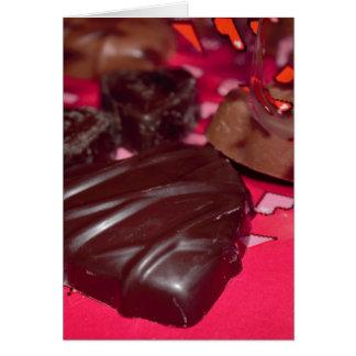 Chokladhjärtor Hälsningskort