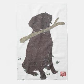 Chokladlabb, Labrador Retriever, brunt Kökshandduk