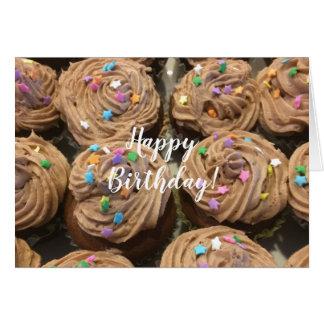 Chokladmuffins för din födelsedag hälsningskort
