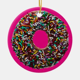 Chokladmunk med färgrika stänk julgransprydnad keramik