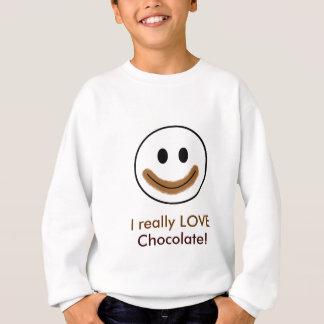 """Chokladsmiley face """"ÄLSKAR jag egentligen choklad! Tee"""