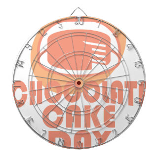 Chokladtårtadag - gillandedag darttavla