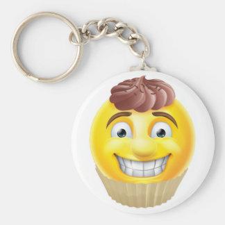 ChokladtårtaEmoji Emoticon Rund Nyckelring