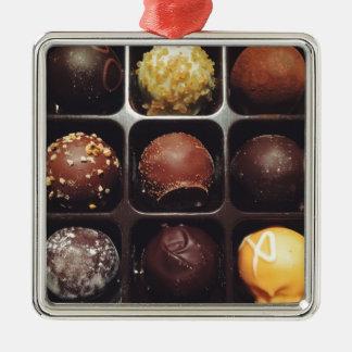 Chokladtryffelfoto Julgransprydnad Metall