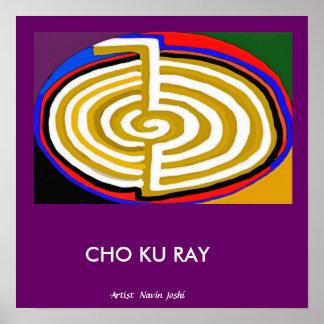 CHOKURAY-guld - grundläggande Reiki symbol Poster