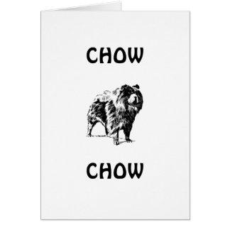 ChowChow Hälsningskort