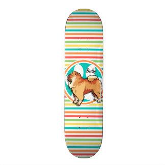 ChowChow; Ljusa regnbågerandar Mini Skateboard Bräda 18,7 Cm