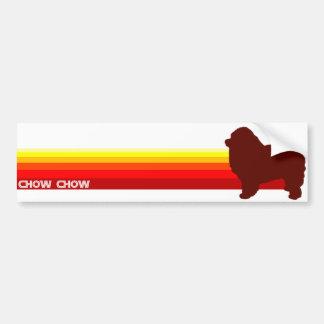 ChowChow med randbildekalet Bildekal