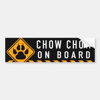 ChowChow ombord Bildekal