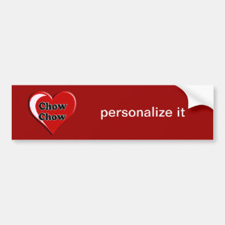 ChowChow på hjärta för hund älskare Bildekal