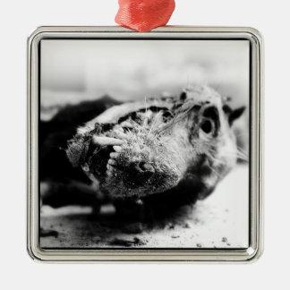 Chribska hund julgransprydnad metall