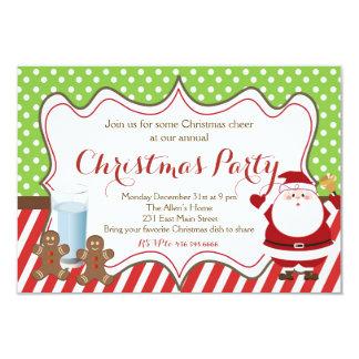 Chrismas partyinbjudan 8,9 x 12,7 cm inbjudningskort
