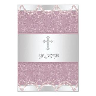 Christening RSV för dop för flicka för 8,9 X 12,7 Cm Inbjudningskort