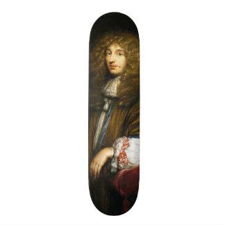 Christiaan Huygens porträtt av Bernard Vaillant Old School Skateboard Bräda 18 Cm