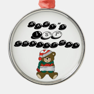 "Christmas_Bear_wih_present-lg BABY "" S, 1st, CHR… Julgransprydnad Metall"