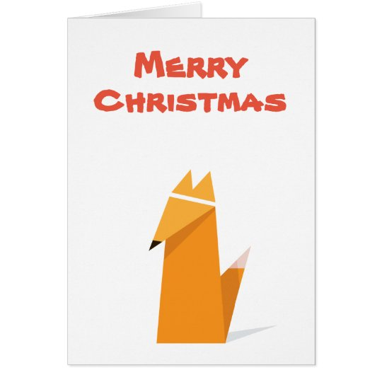 Christmas card with Fox design Hälsningskort