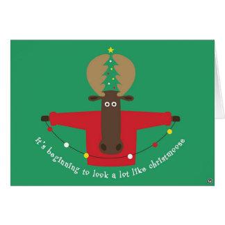 christmoosekort hälsningskort