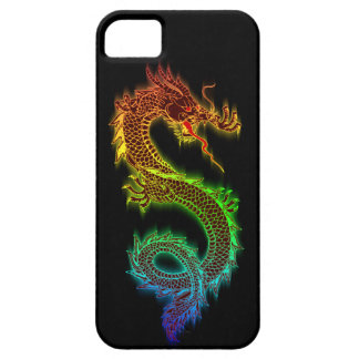 Chromatic östlig drake (svarten) iPhone 5 cover