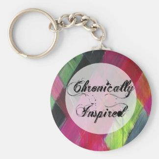 Chronically inspirerad nyckelringcursive rund nyckelring
