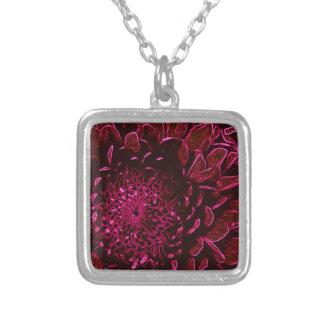 Chrysanthemum Silverpläterat Halsband
