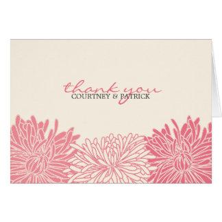 Chrysanthemumblommarpersonlig Notecard OBS Kort