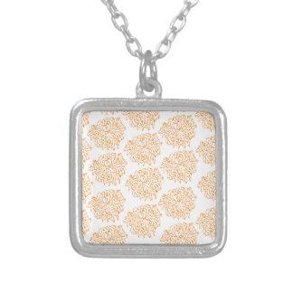 Chrysanthemumblommönster Silverpläterat Halsband