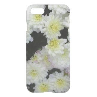 Chrysanthemumen samla i en klunga trädgårds- vit iPhone 7 skal