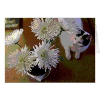 chrysanthemumkattlyckan noterar kortet OBS kort