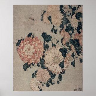 Chrysanthemums (färgträkloss) poster