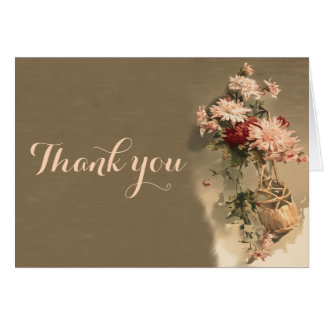 Chrysanthemums i ett flaskatackkortkort OBS kort