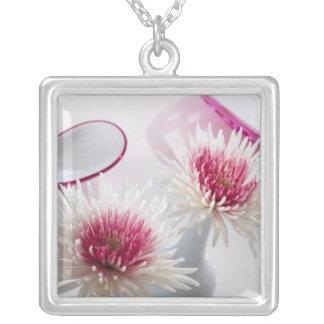 Chrysanthemums Silverpläterat Halsband
