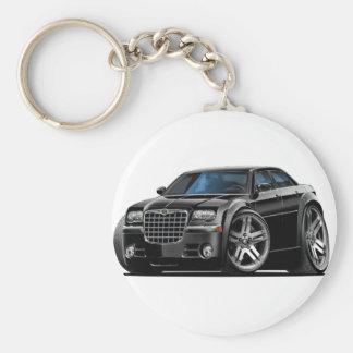 Chrysler 300 svart bil rund nyckelring
