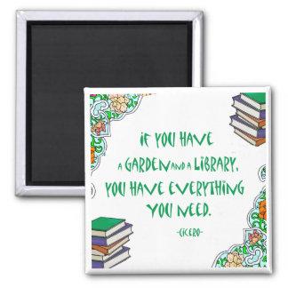 Cicero - om du har en trädgård och ett bibliotek. magnet