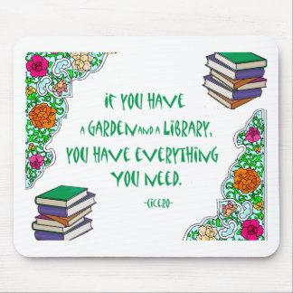 Cicero - om du har en trädgård och ett bibliotek. musmatta