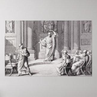 Cicero som skarpt kritisera Catiline Poster
