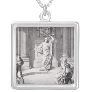 Cicero som skarpt kritisera Catiline Silverpläterat Halsband