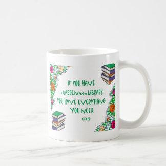 Ciceros citationstecken på bibliotek kaffemugg