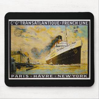 Cie. Gle. Transatlantique kryssningvintage resor Mus Mattor
