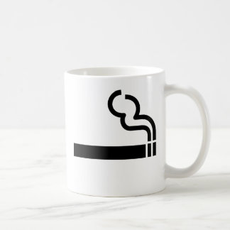 Cigaretten som röker tillåten reko symboltobak, kaffemugg