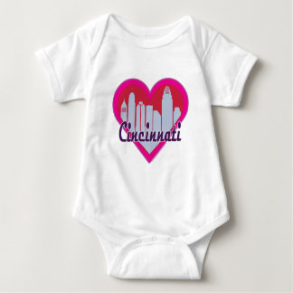 Cincinnati horisonthjärta tröjor