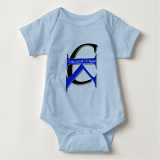 Cincinnati kajak - baby blue logotyp tee shirts