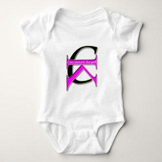 Cincinnati kajak - baby - rosa logotyp t-shirts